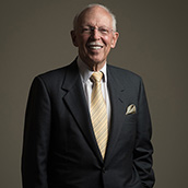 He served as chief executive officer and president of Tranzonic Companies in Pepper Pike, Ohio from 1973-98, and also served as chairman from 1982-98. A 1955 accounting graduate of WVU B&E, he is currently a principal in Riverbend Advisors of Gates Mills, Ohio. Reitman is a renowned consultant to Cleveland area nonprofit organizations. His philanthropic activities are widely known throughout the Cleveland area and his alma mater, including his support of the Corporate Social Responsibility program at B&E.  Portrait Photogrpahy by Alex Wilson.